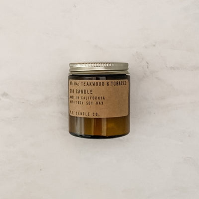 Mini Scented Soy Candle - Teakwood & Tobacco