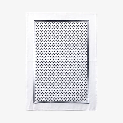 Tea Towel Tiny X Black & White