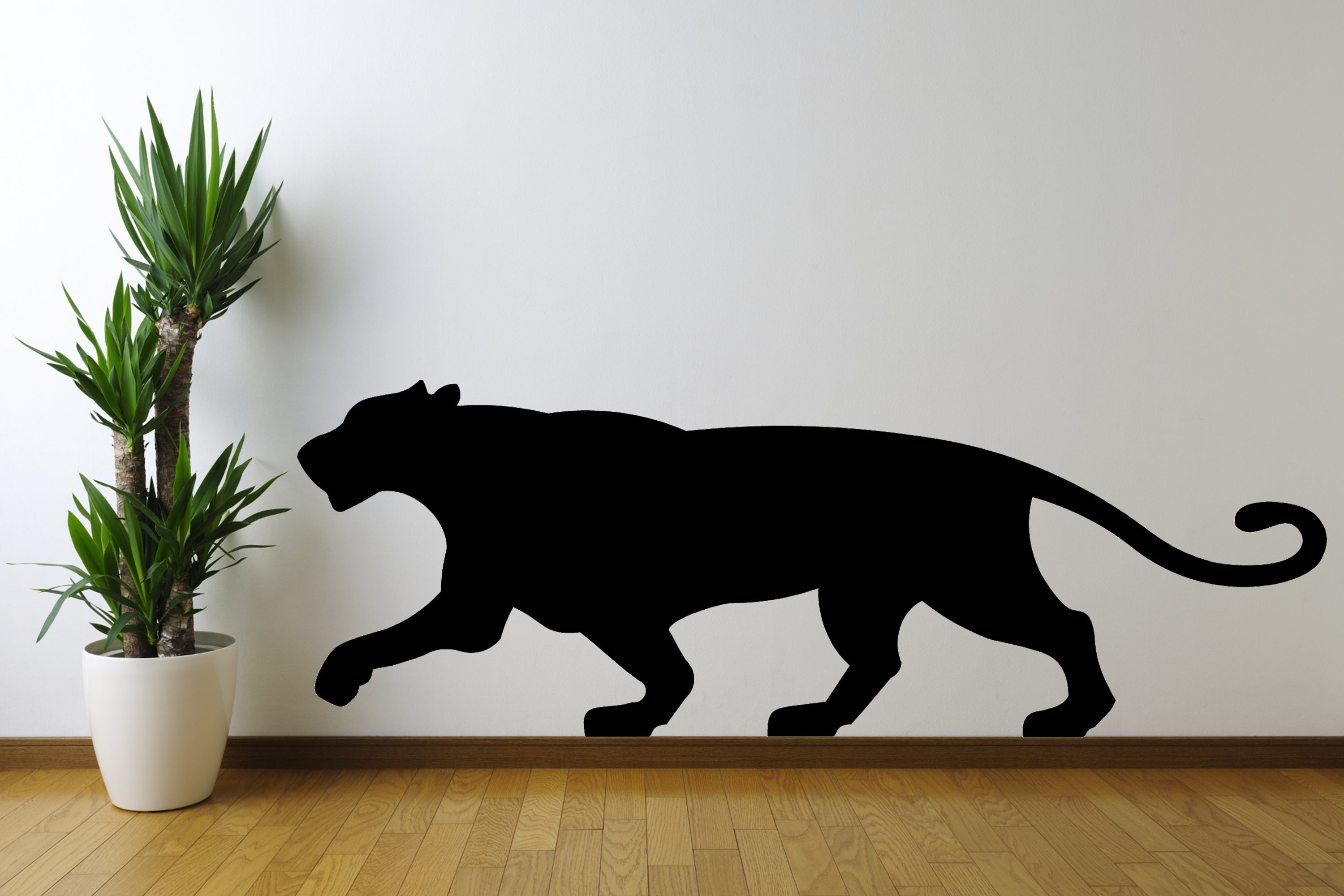 Big Cat 3D Silhouette - Cutting Image