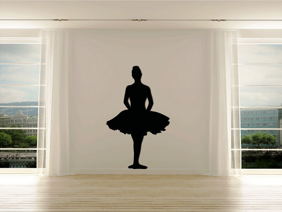Ballerina First Position Silhouette - Cutting Image