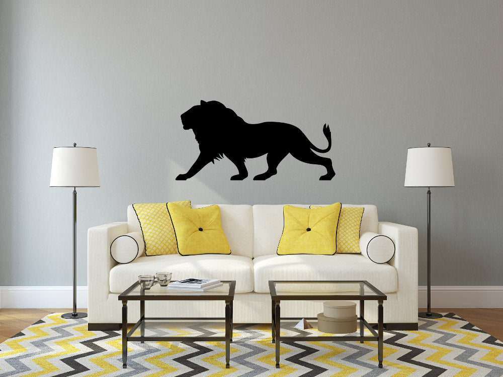 Lion 3D Silhouette - Cutting Image