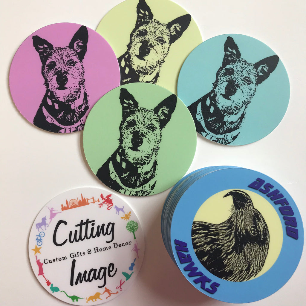 Customised Coasters - Personalise with your picture or logo. - Cutting Image
