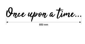 once upon a time wall decal measurements