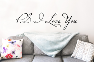 PS I Love You - Large Vinyl Wall Decal - Cutting Image