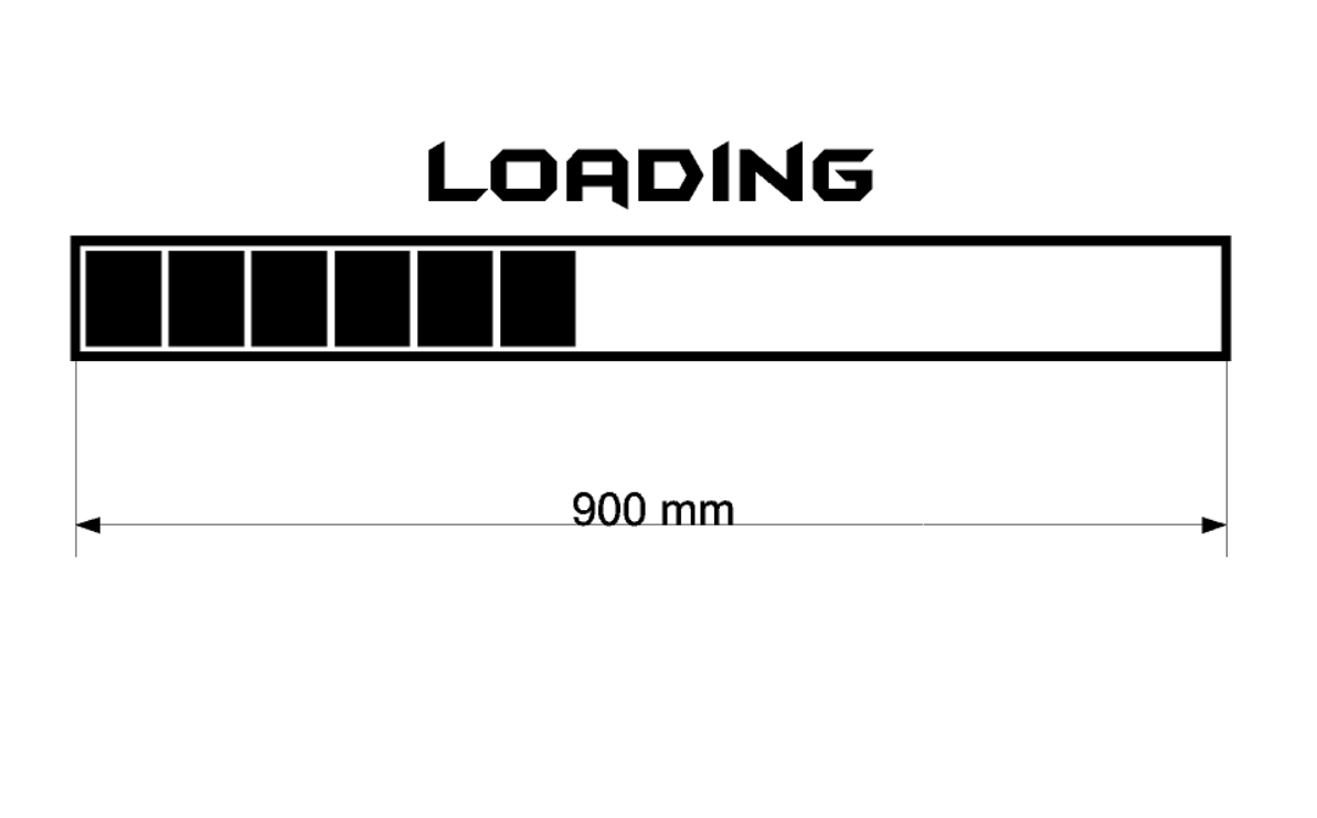 Loading - Large Vinyl Wall Decal