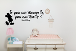 If You Can Dream It - Large Vinyl Wall Decal - Cutting Image