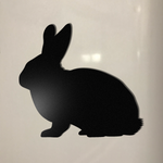 Rabbit Chalkboard Fridge Magnet - Cutting Image