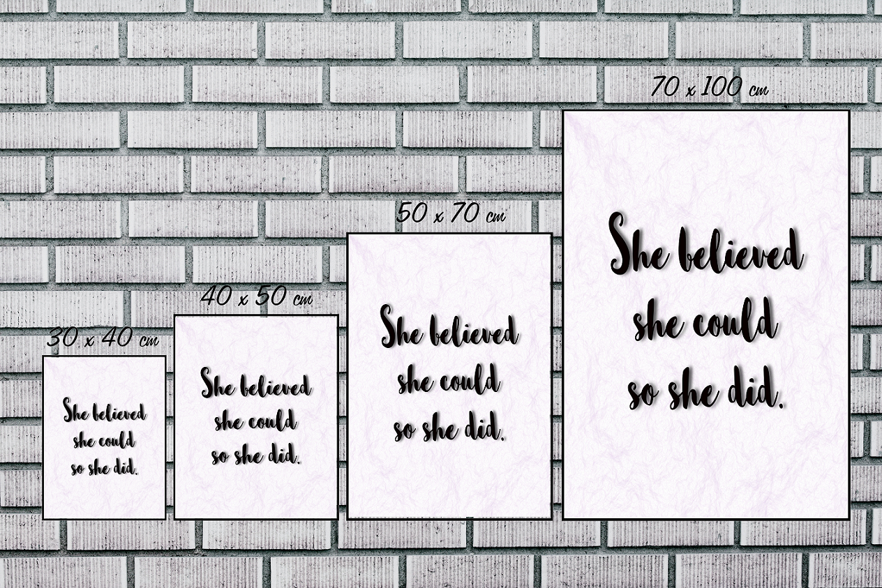She Believed She Could - Print