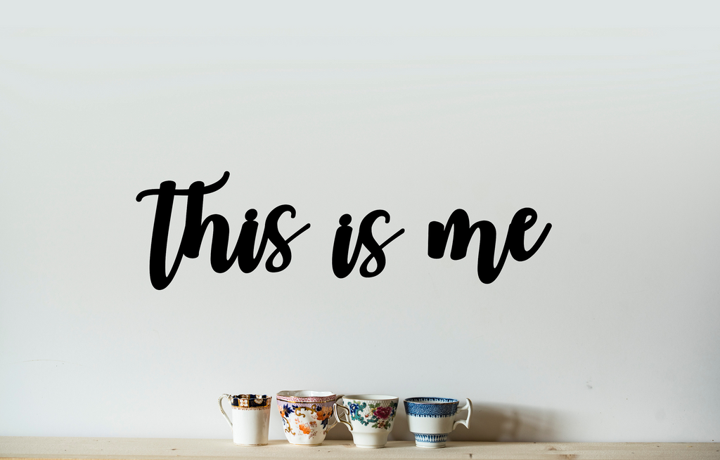 This Is Me - Black Vinyl Wall Decal - Cutting Image