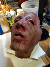 Load image into Gallery viewer, Ready to Ship - Aquarius - Heavy Blood Silicone Skinned Horror Face Mask