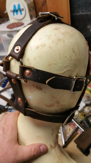 Leather Strapping Harness for Severed Face Masks - Does not include a mask!