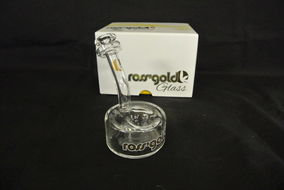 Ross' Gold Glass Get Puck'd Hand Pipe