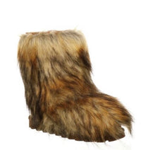 Load image into Gallery viewer, Fur boots bear paw