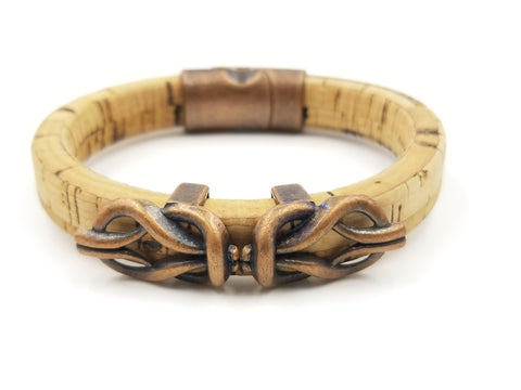 Cork Copper Celtic Bracelet