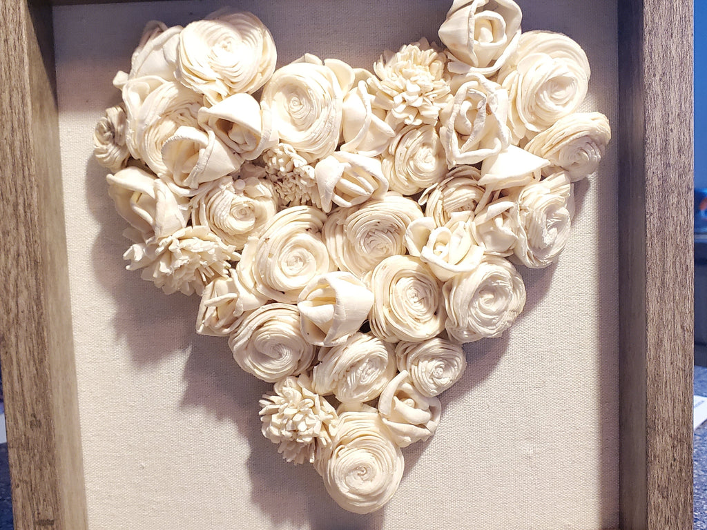 Wood Flower Heart Shadow Box Class: Sunday, February 23rd at 1PM