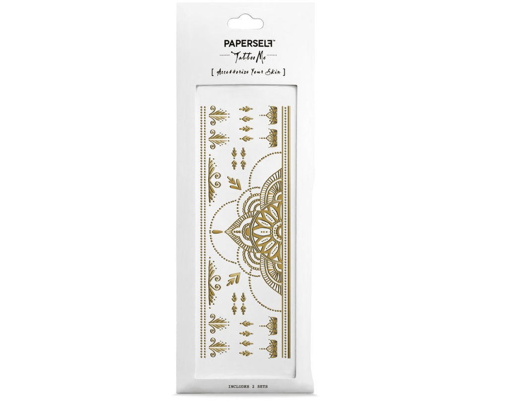 Temporary Tattoos- Henna Gold