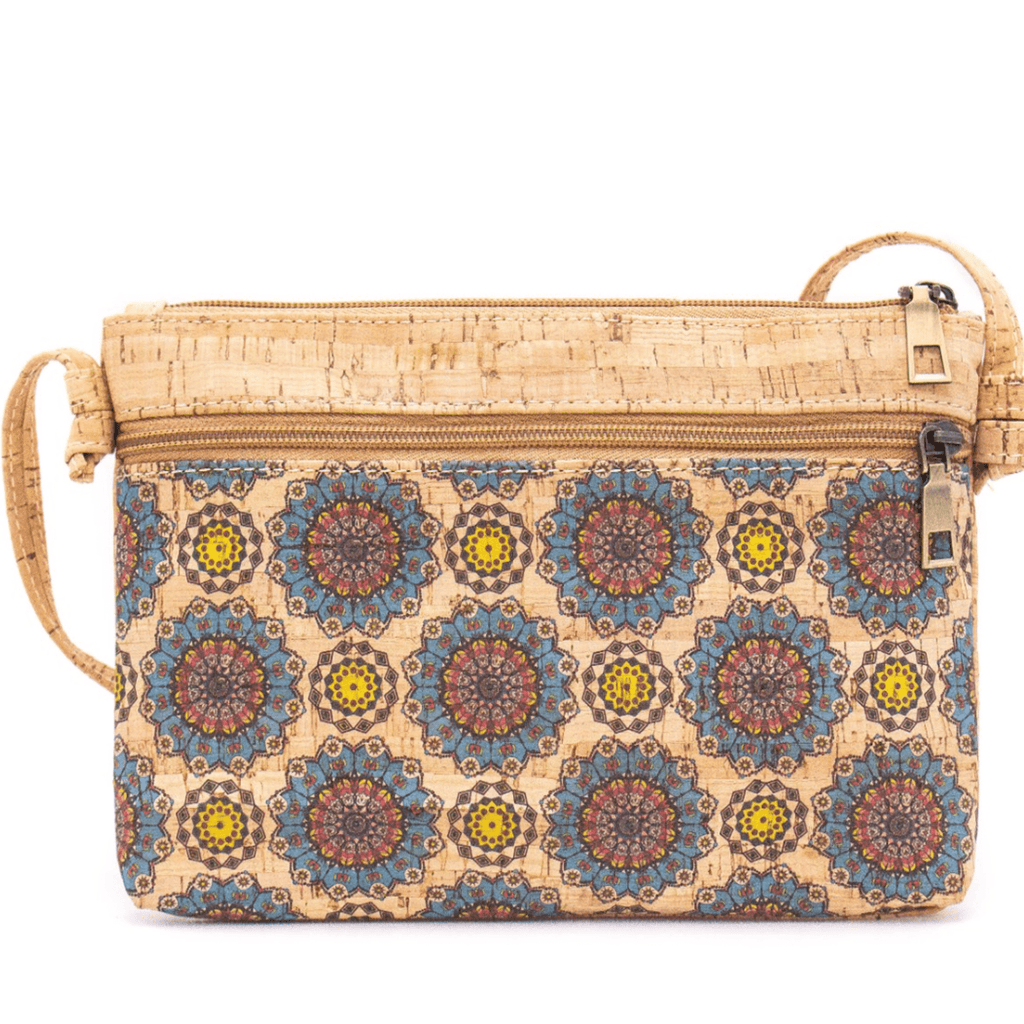 Blue & Yellow Cork Messenger Bag