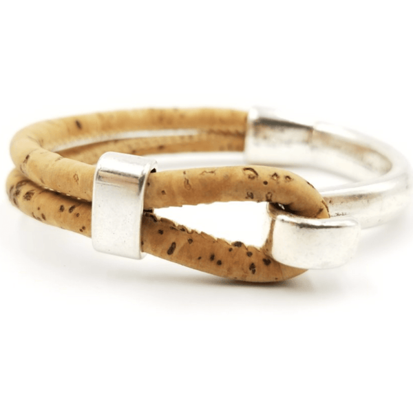 Tan Cork Side Hook Bracelet