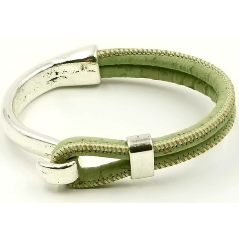 Mint Green Cork Side Hook  Bracelet