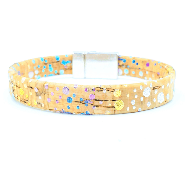 Rainbow Magnetic Cork Bracelet