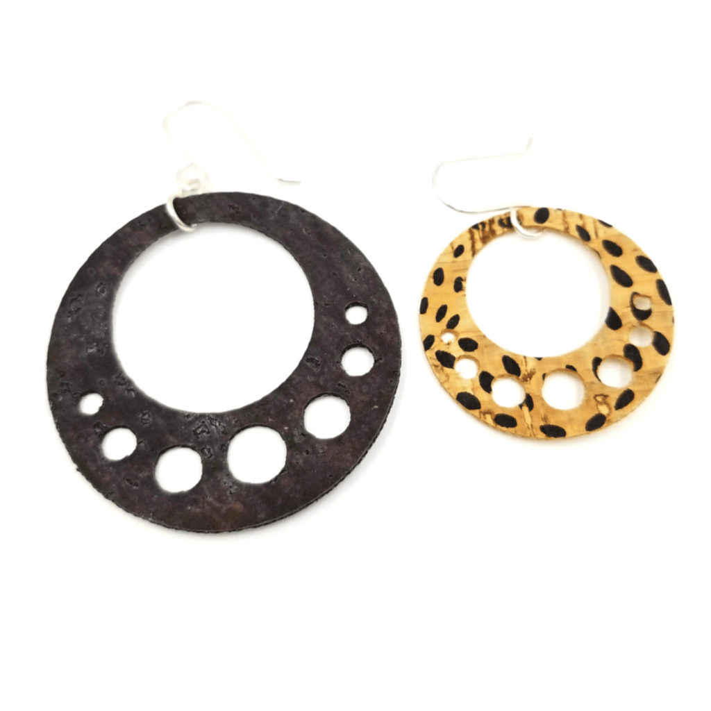 5 Circle Cork Earrings-Design Your Own
