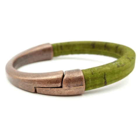 Sage Cork Copper Cuff Bracelet