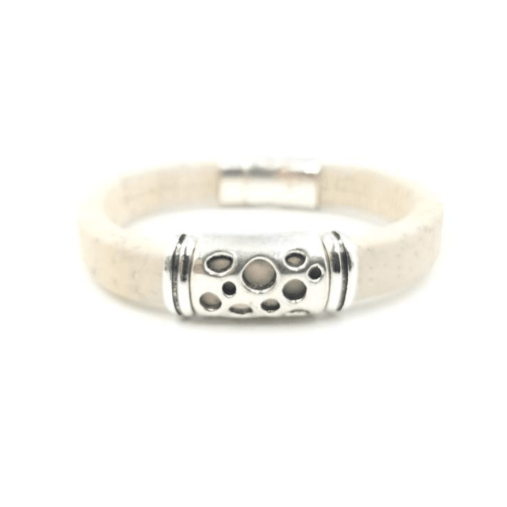 White Cork Hole Bracelet