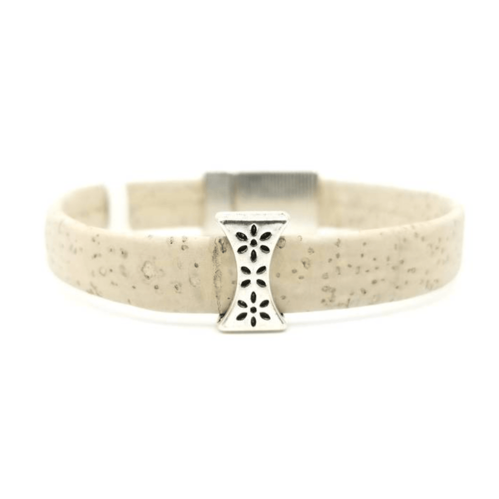 White Slider Cork Bracelet