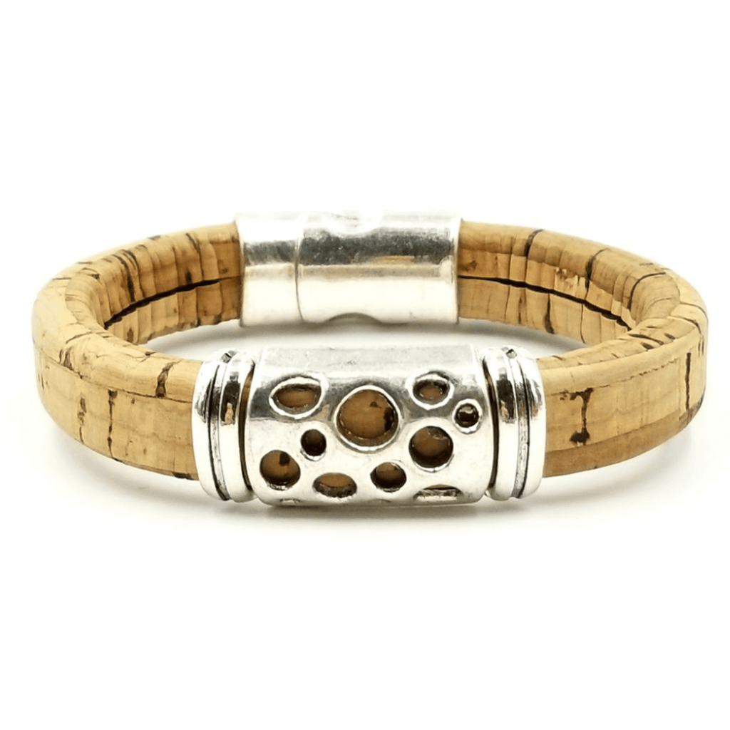 Tan Cork Hole Bracelet