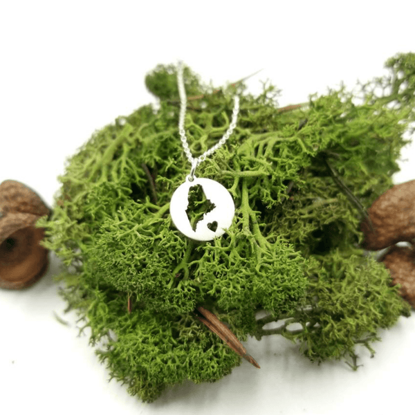 Mini Maine Circle Necklace