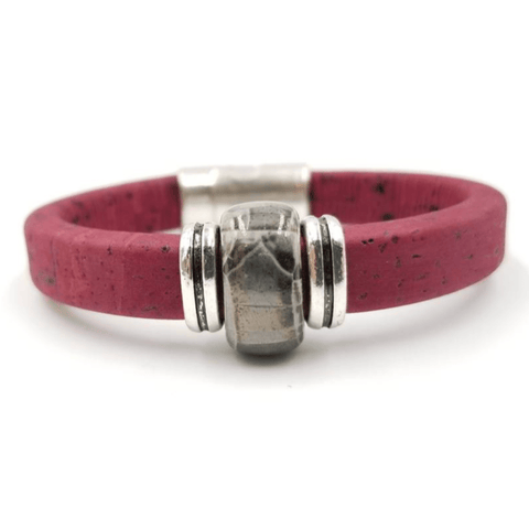 Wine Cork Porcelain Bead Bracelet