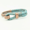 Blue Cork Copper Side Hook Bracelet