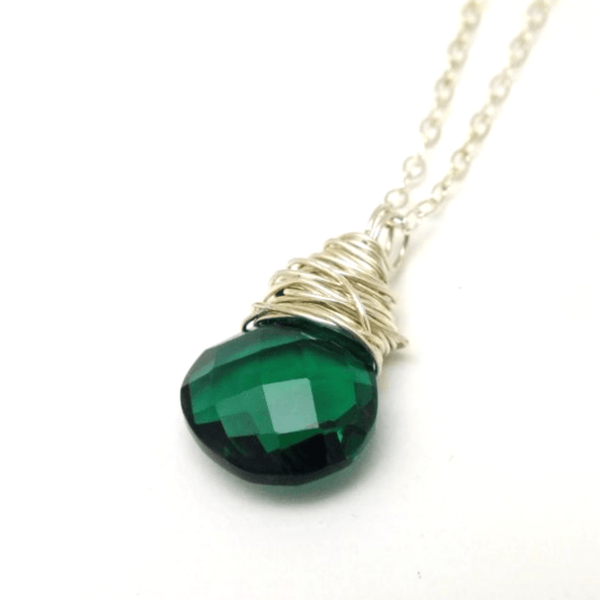 Teal Quartz Necklace