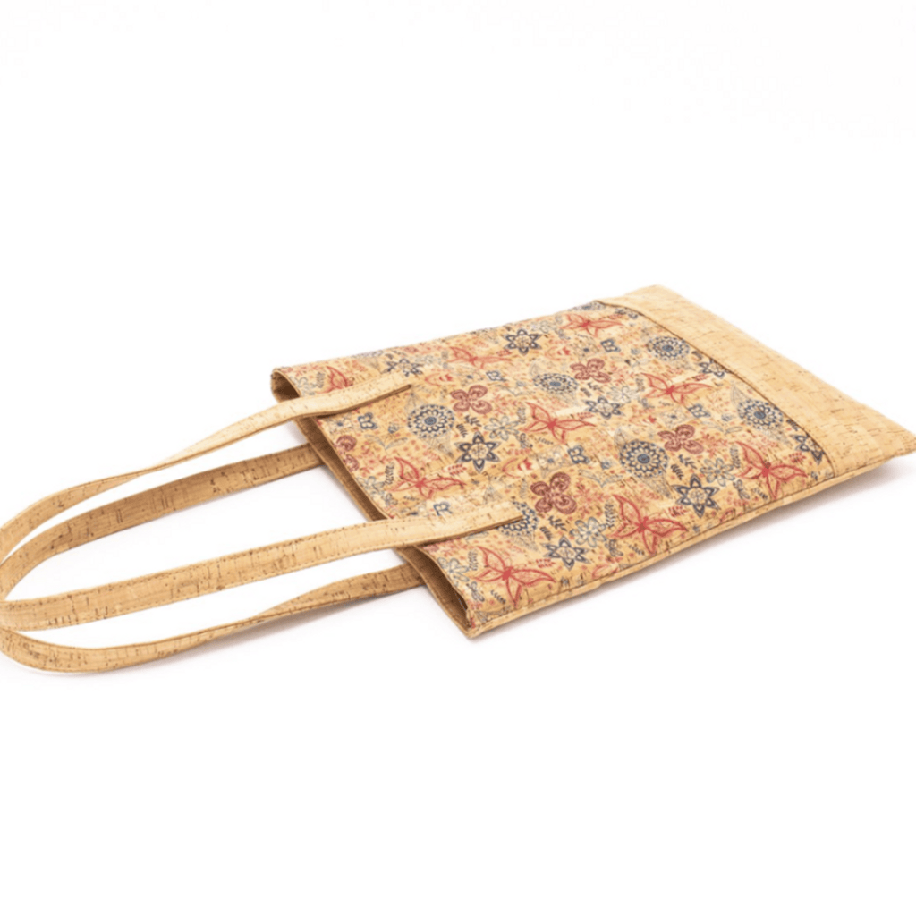 Butterfly Floral Cork Skinny Tote