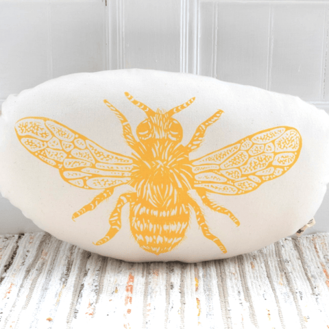 Honeybee Pillow- Yellow