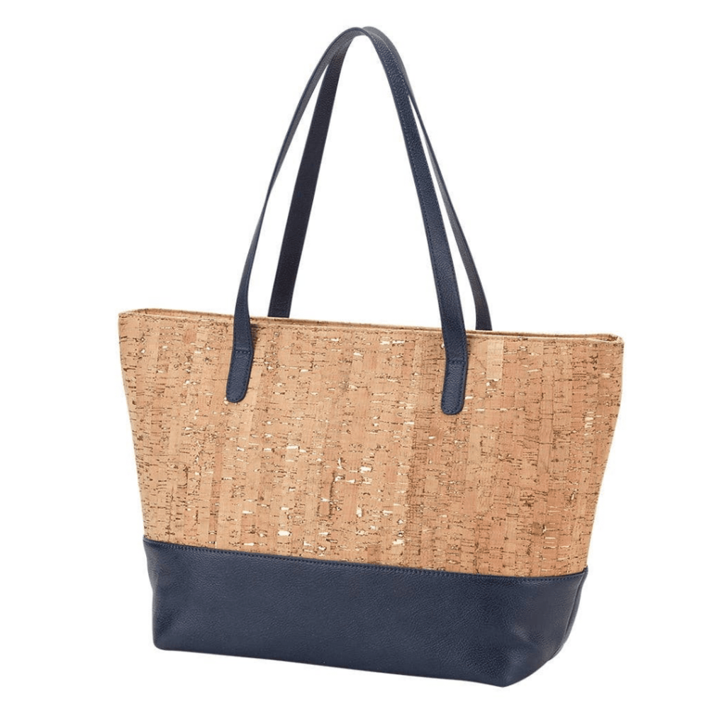 Navy & Natural Cork Tote