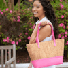 Pink & Natural Cork Tote