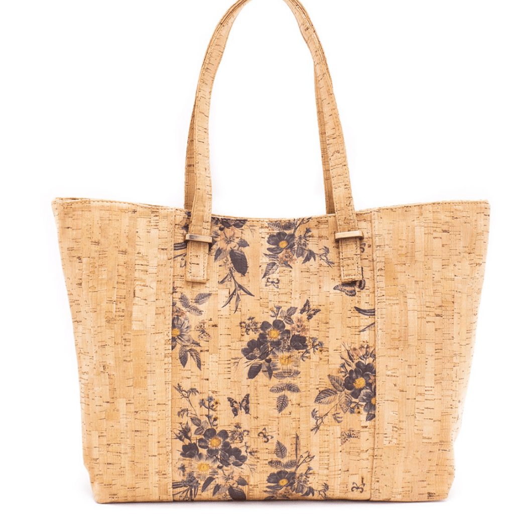 Floral Cork Large Tote