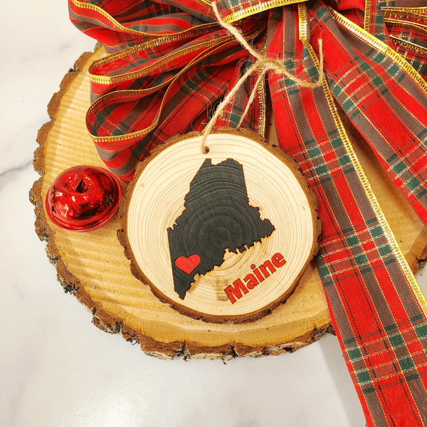 Maine Wood Ornament
