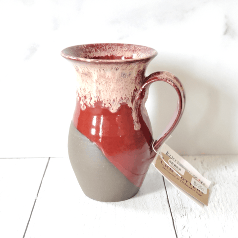 Mug, Pottery, Red/Exposed