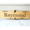 Custom Coordinates Engraved Wood Signs