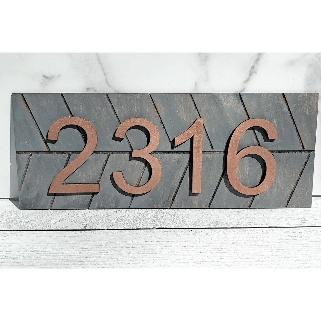 Custom House Number Wood Sign