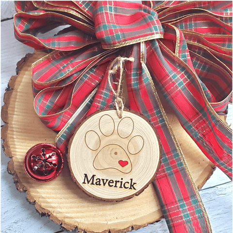 Pet Personalized Wood Slice Ornament