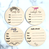Personalized Vine Baby Newborn Announcement Circle Sign