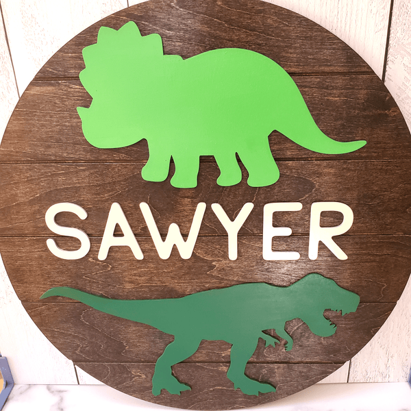 Personalized Dinosaur Name Sign, 20""