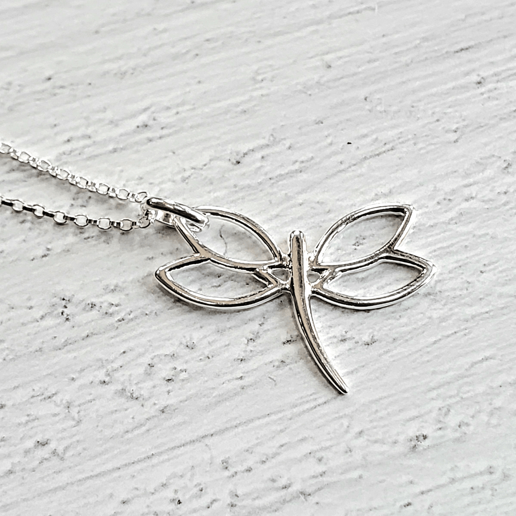 Dragonfly Pendant .925 Necklace