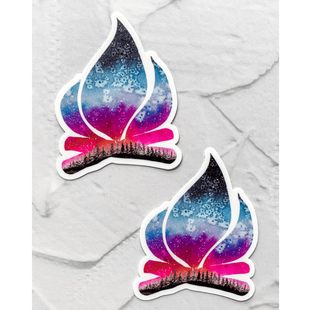 Campfire Pink Sunset Sticker