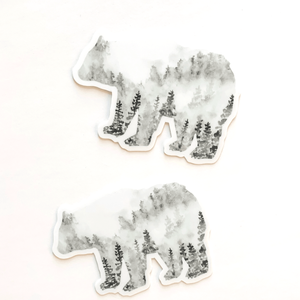 Black Bear Forest Sticker Decal