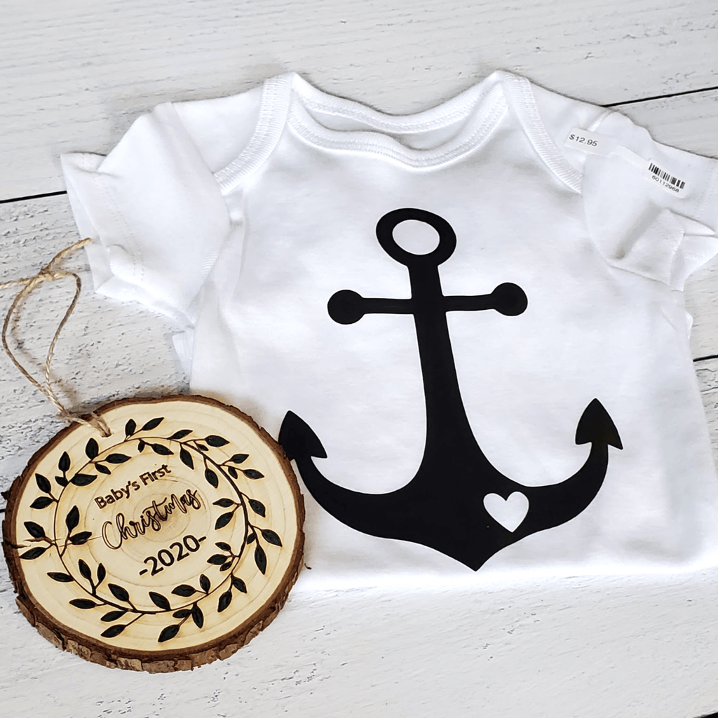 Maine Anchor Baby Bodysuit, White
