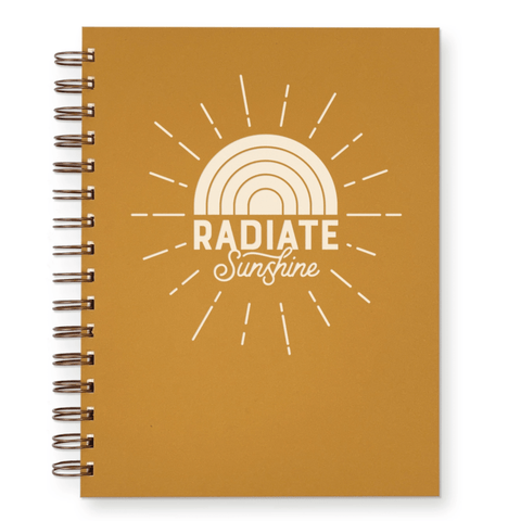 Radiant Sunshine Lined Notebook